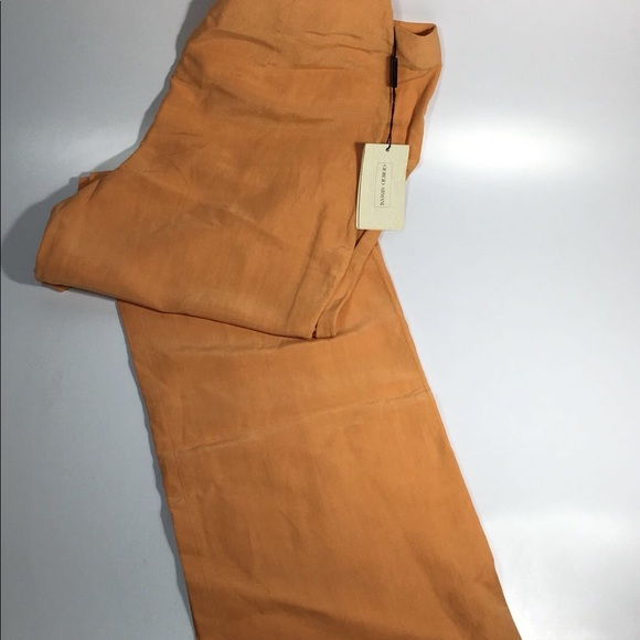 8072403ad2 NWT $270 Emporio Armani Women's Silk Linen Pants NWT